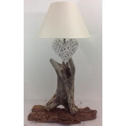 Lampe en bois flotté ref 027