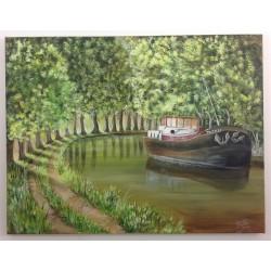 Tableau Canal du Midi ref 006
