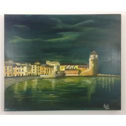 Tableau Collioure Nuit ref 021
