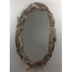 Miroir Ovale en Bois flotté ref 036