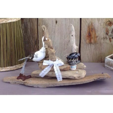 Porte Bijoux ( bracelets et bagues ) en bois flotté