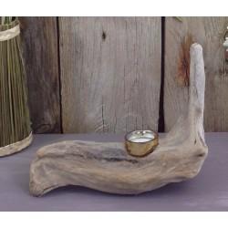 Porte Bougie en bois flotté