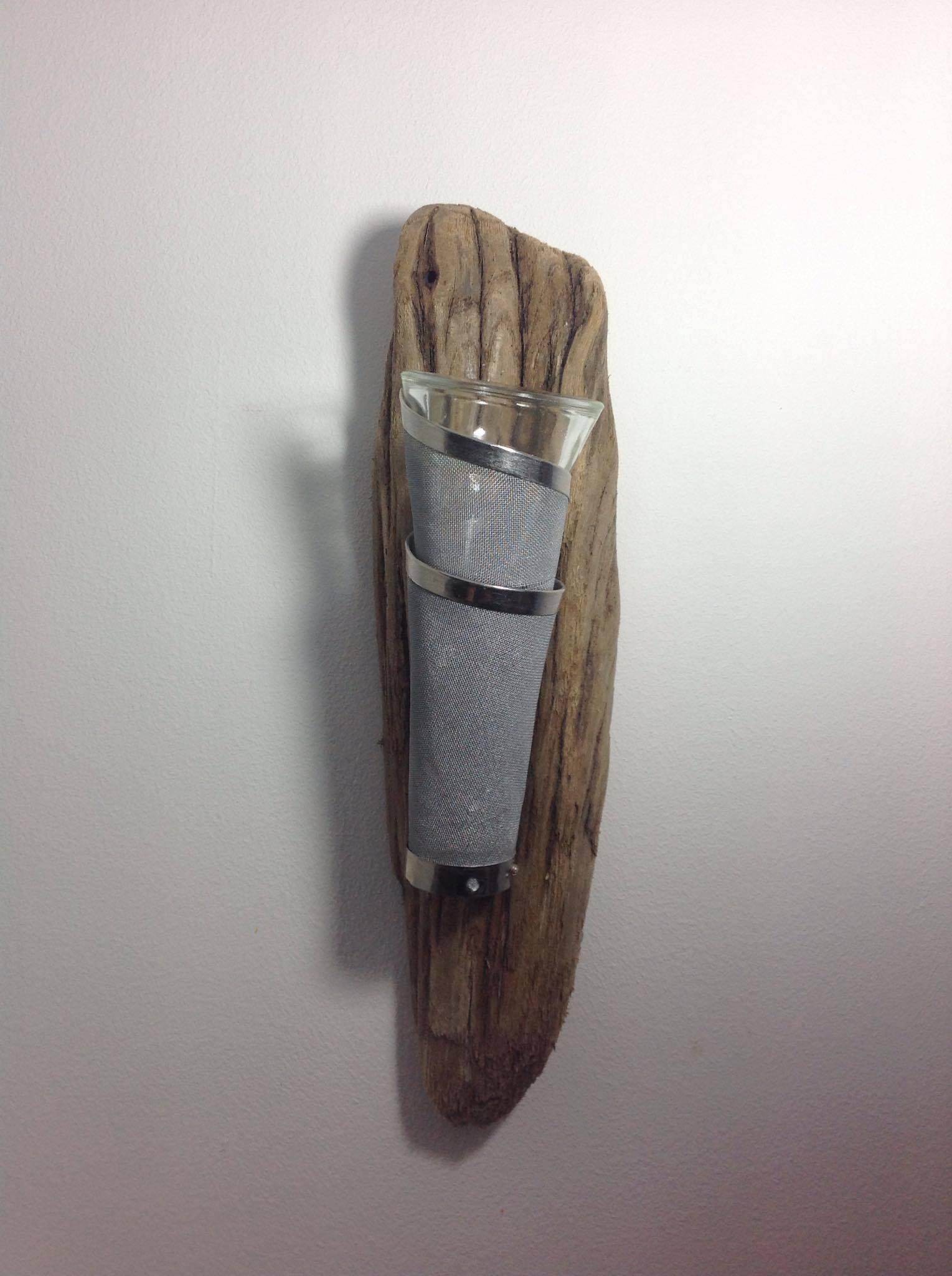 Applique murale en bois flotté a accrocher