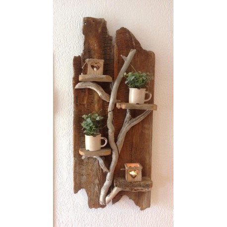 étagére en bois flotté