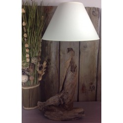Grande lampe en bois flotté