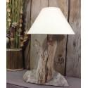 lampe en bois flotté design