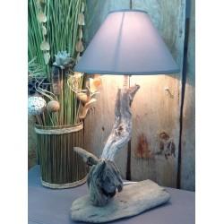 Lampe en bois flotté ref 018