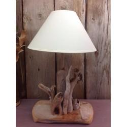 Petite lampe en bois flotté