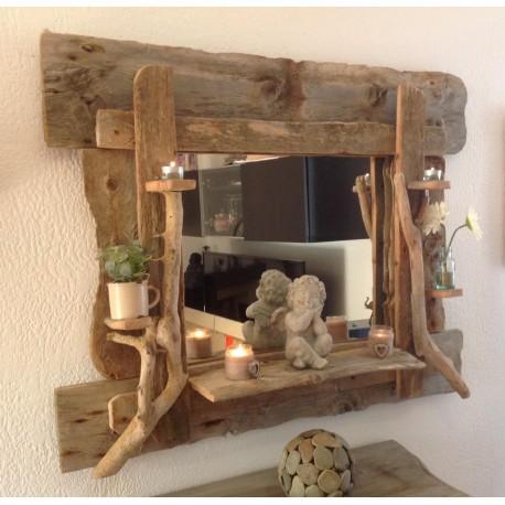 Grand Miroir en bois flotté