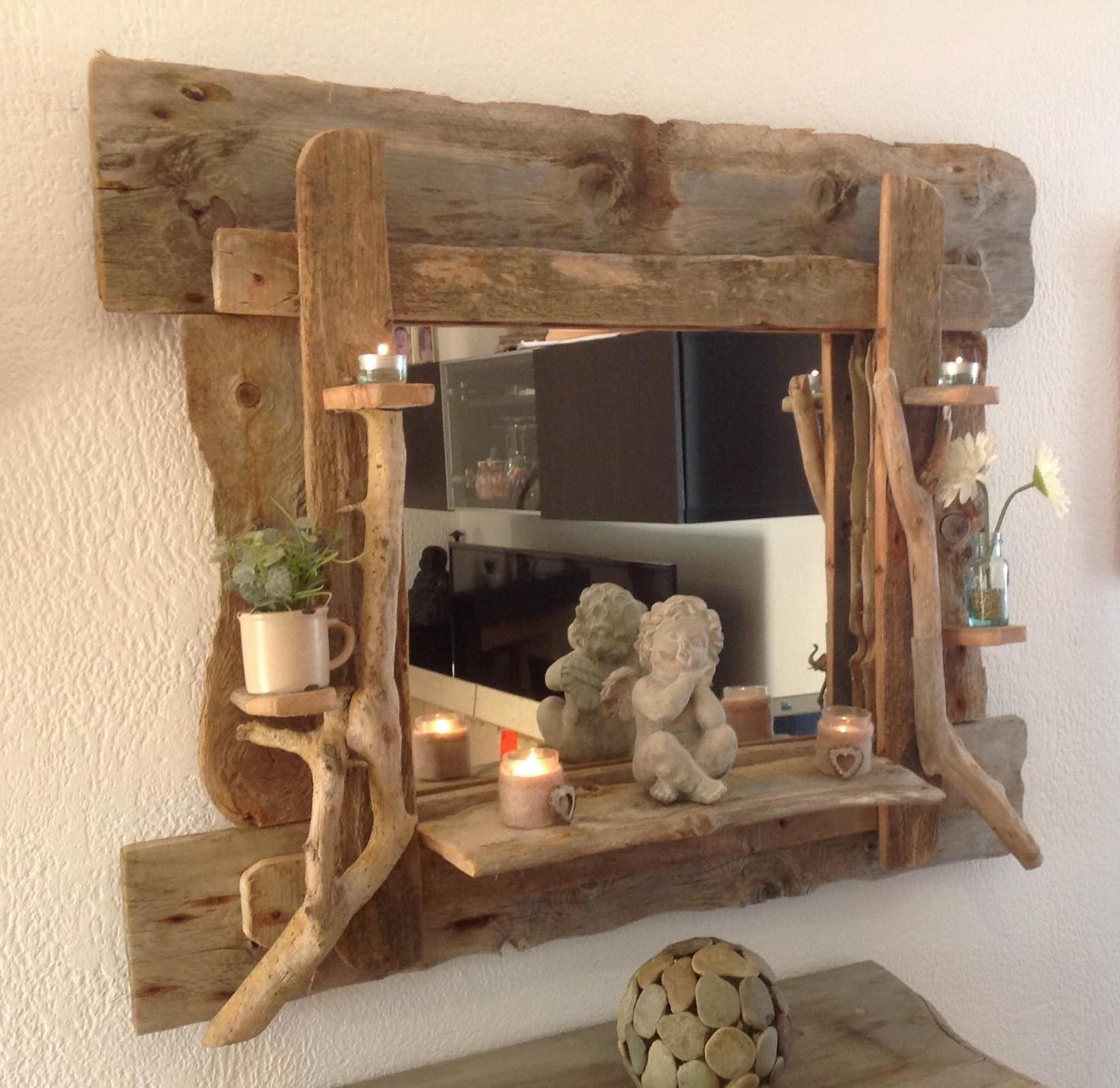 Grand Miroir en bois flotté - https://www.tethysart.com