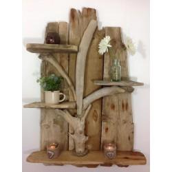 Jolie étagère en bois flotté
