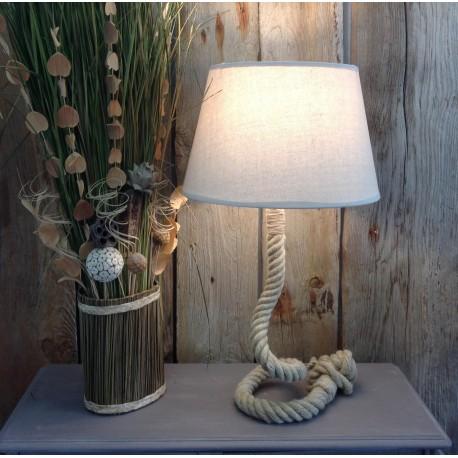 Lampe en corde de chanvre