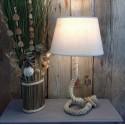 Lampe en corde de chanvre Cacilia