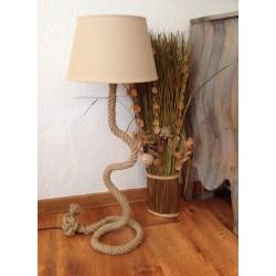 Grande lampe corde de chanvre