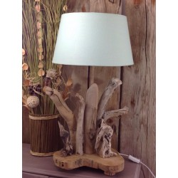 Grande lampe bois flotté