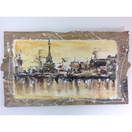 tableau bois flotté Paris Tour Eiffel ref 002