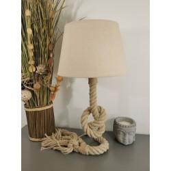 Lampe Corde Marine motif Nœud