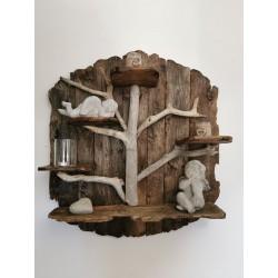 Etagère en bois flotté