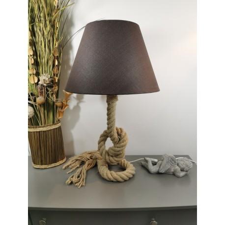 Lampe corde motif nœud