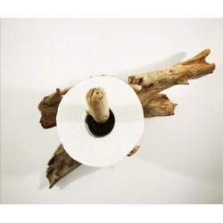 Dérouleur papier WC bois