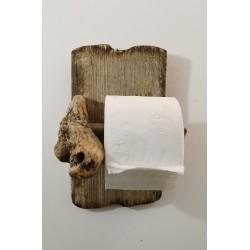 Porte -rouleau papier WC en bois
