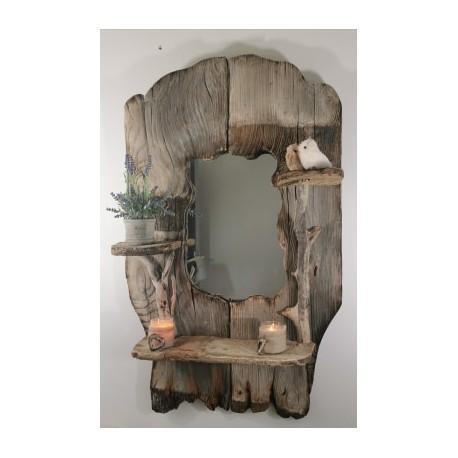 """Encadrement """"étagère"""" en bois pour Miroir"""